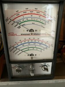 Vintage Sun Testing Equipment Engine Analyzer No Cp7660 For The Classics