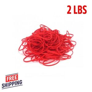 2 Lbs Red Rubber Bands Size 16 3600 Total 2 1 2 X 1 16 Free Mail Newspaper