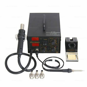 2 In 1 Smd Soldering Iron Hot Air Heat Gun Rework Station Digital Display 750w