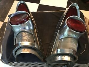 1957 Buick Tail Lights Complete Guide Lenses Century Rare Vintage