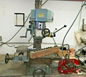 Bench Top Milling Machine 208 220 Volt W r8 Collets Hd Vise And Clamps Set
