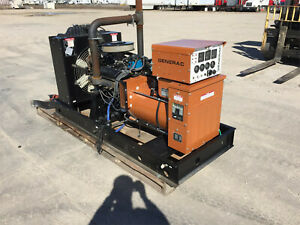 Generac 45 Kw Propane Generator Single Phase Gm Engine 797 Hours
