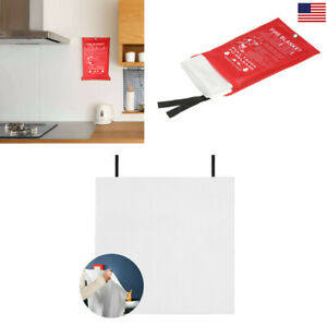 Quick Release Home Office Safety Large Fire Blanket In Case 1mx1mx0 3mm