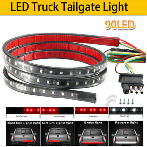 Led Rear Brake Signal Reverse Tailgate Light Strip Bar For Silverado 1500 Pickup