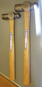 2 Napa Vintage Wood Handle Ball Peen Hammers Made In Usa 24oz 16oz Excellent