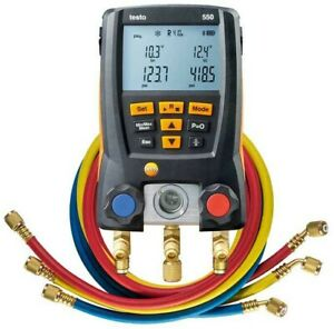 Testo 550 Digital Manifold Kit With Hoses And Bluetooth