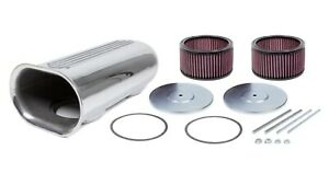 The Blower Shop 5510 Dual Carb Blower Scoop Kit Polished