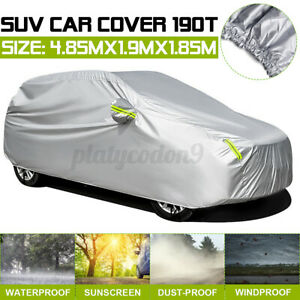 L Size Suv Car Cover Waterproof Dust Sun Protection Outdoor W Reflective Strips
