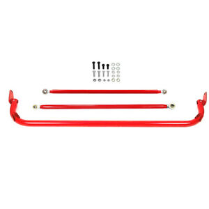 49 Stainless Steel 4 5 6 point Racing Safety Seat Belt Roll Harness Bar Red