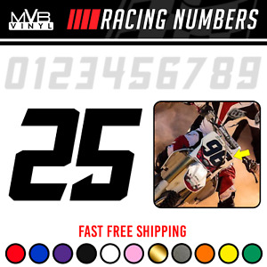 Racing Numbers Vinyl Decal Sticker Dirt Bike Plate Number Bmx Competition 821