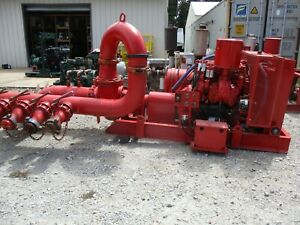 Detroit Diesel Driven Pumping Unit W g r Pump New Battery Hrs 7757 731236k Used