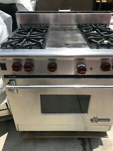 Wolf 36 Gas Range 4 Grill In Los Angeles