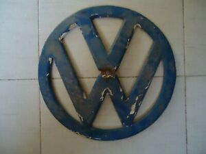 Original Vintage Vw Bus Grill Metal Emblem 320 Mm