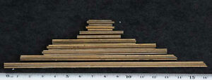9x Lines Frame Bookbinding Brass Type Letterpress Hot Stamp Hotfoil Embossing