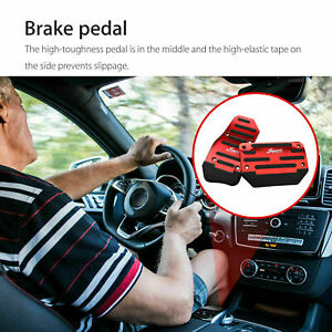 Universal Red Non slip Automatic Gas Brake Foot Pedal Pads Cover Car Accessories
