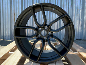 4 Dodge Hellcat Staggered Wheels Matte Black 20x9 5 20x10 5 Challenger Charger