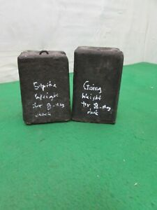 Pair Of American Cast Iron 8 Day Ogee Wall Clock Weights