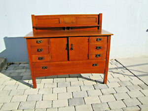 Great Antique L Jg Stickley 54 Sideboard W5179