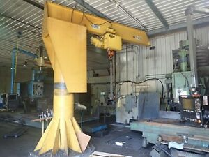 make Offer Abell howe 2 Ton Jib Crane hoist 10 000 Lb