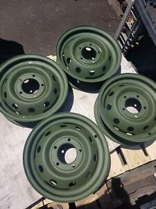 Set Of 4 16 Used M151 M151a1 M151a2 G838 Mutt Rim Wheel Tire Jeep Willys
