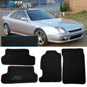 For 97 01 Honda Prelude 2dr Nylon Floor Mats Carpets Black 4pc