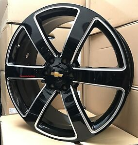 22 Wheels Pirelli Tires Chevy Ss Trailblazer Black Milled 6x127 22x9 Rims