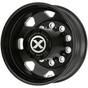 Atx Ao401 Octane Rear 22 5x8 25 10x285 75 Black milled Wheel Rim 22 5 Inch