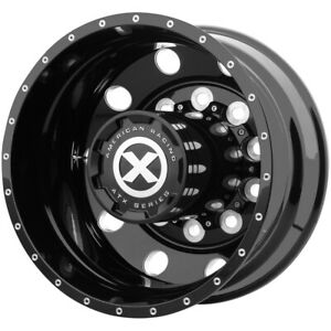 Atx Ao400 Baja Rear 22 5x8 25 10x285 75 Black milled Wheel Rim 22 5 Inch