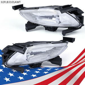 Lh Rh Front Bumper Driving Fog Lights Lamps For 2011 2013 Hyundai Sonata Clear