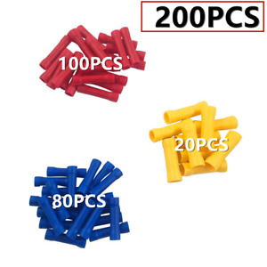200pcs Assorted Insulated Electrical Wire Cable Terminal Crimp Connector Kit