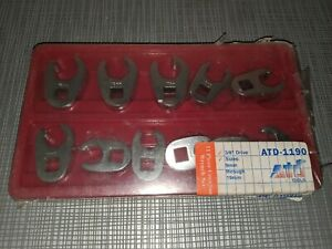Atd Crowfoot 11 Piece Wrench Set 3 8 Drive Metric 9mm 19mm New Adt 1190