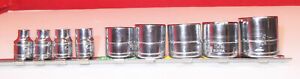 Lot Of 9 Silver Eagle Matco 3 8 Drive 6 Point Sockets New Unused Sae Nice