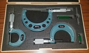 Mitutoyo 103 922 Outside Micrometer Set W Standards 0 3 W Box