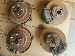 2004 Subaru Wrx Wagon Front Spindle Rear Knuckles W Brake Calipers Disc Hub