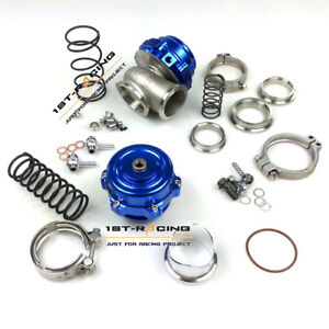 Blue 50mmbov 44mm Water Cold Wastegatecombo Turbine Blow Off Valve Spring Flange