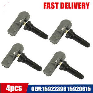 4pcs Genuine Tpms Tire Pressure Sensor Monitoring 15922396 15920615 For Chevy Gm