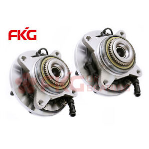2007 2008 2009 2010 Ford Expedition Navigator 4wd Pair 2 Front Wheel Bearing Hub