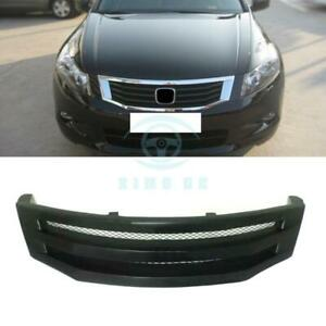 Black Resin Horizontal Stripe Front Grille For Honda Accord 8th 2008 2010