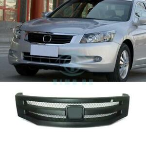 Matte Black Resin Horizontal Stripe Front Grille For Honda Accord 8th 2008 2010