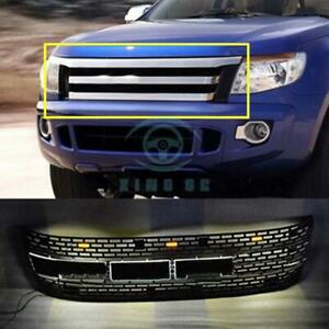 For Ford Ranger T6 2012 2014 Black Front Grille Replace Trim With Led B