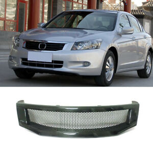 Carbon Fiber Front Grille Honeycomb Mesh Replace For Honda Accord 8th 2008 2010