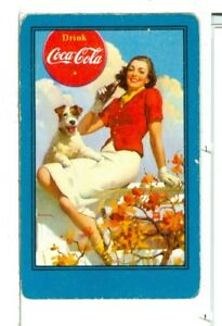 Single Vintage Playing Card Coca Cola