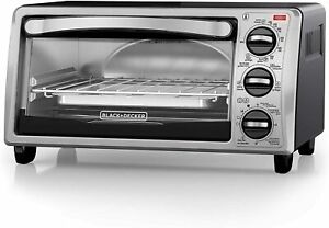 Toaster Oven 16 4 Inch Silver Compact Portable Counter top Fit 4 Functions