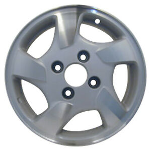 Oem Used 15x6 Alloy Wheel Rim Sparkle Silver Textured With Machined Face 63775