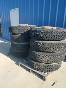 Used Set Of 8 1200r20 Radial Tire And Wheel Military Michelin X