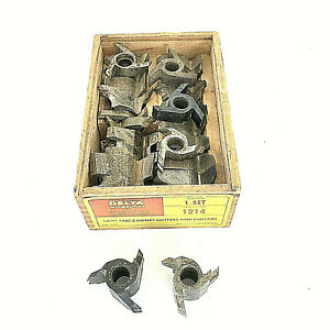 Vtg Box Of 23 Delta Rockwell Milwaukee 3 Wing Sash Cabinet Cutters 1 2