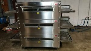 2016 Xlt 3255 Triple Stack Natural Gas Pizza Conveyor Ovens video Demo