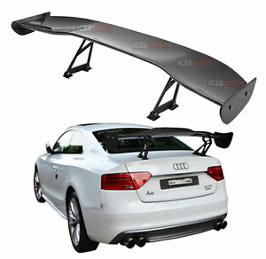 Gt Style Weather Proof 57 Real Carbon Fiber Rear Adjustable Spoiler Wing O15