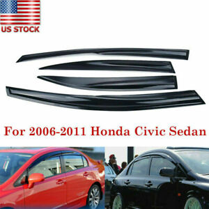For Honda Civic 4dr 2006 2007 2008 2009 2010 2011 Window Visor Weather Sheild