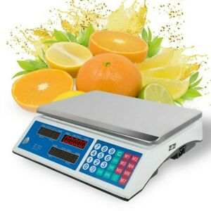 66lbs 30kg Digital Weight Scale Price Computing Retail Food Meat Deli Market